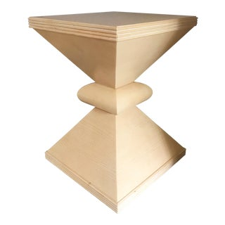 Sculptural Hourglass Pedestal Side Table by Century Furniture For Sale