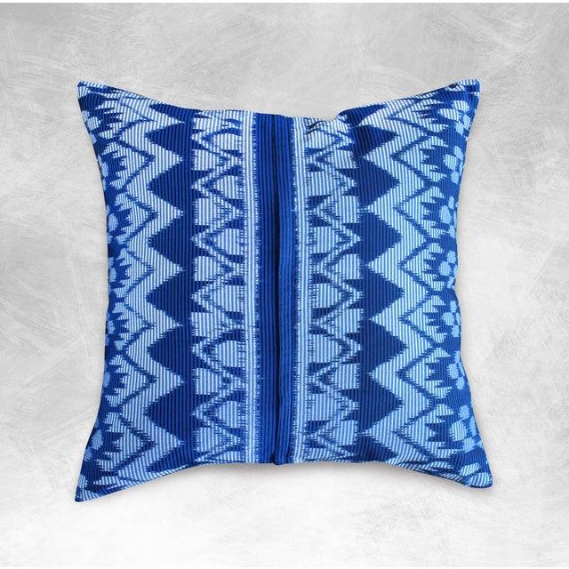 "Javanese ""Indigo Ratu"" Ikat Pillow - Image 2 of 3"