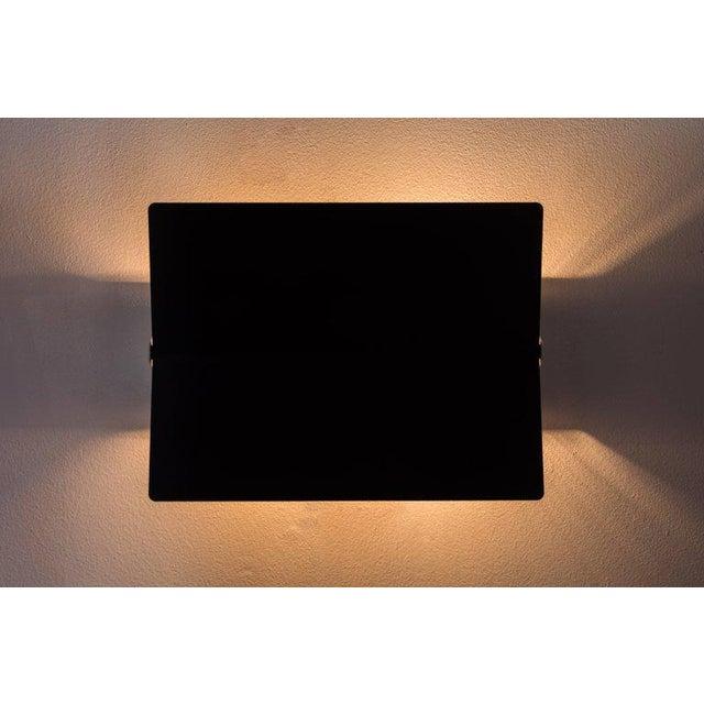 Metal Large Charlotte Perriand 'Applique à Volet Pivotant Plié' Wall Light in Black For Sale - Image 7 of 8