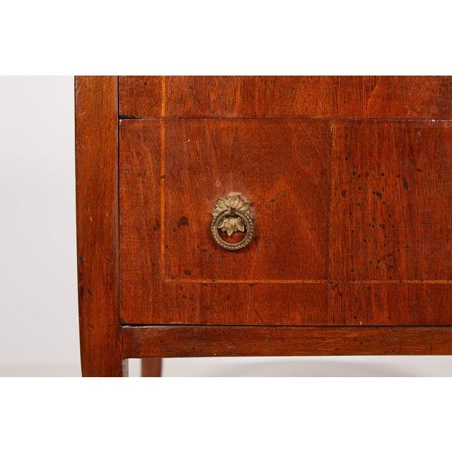Italian Neoclassical Walnut Commodini For Sale - Image 10 of 13