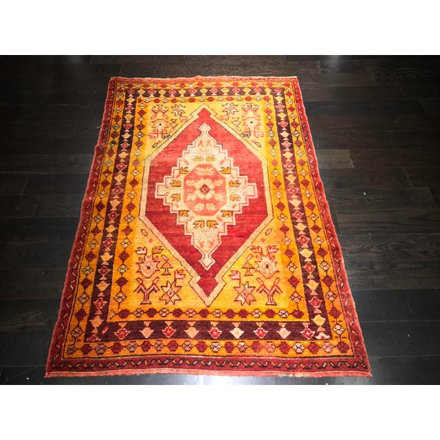 "Bellwether Rugs Vintage Turkish Oushak Area Rug - 3'8"" X 5'4"" - Image 3 of 11"