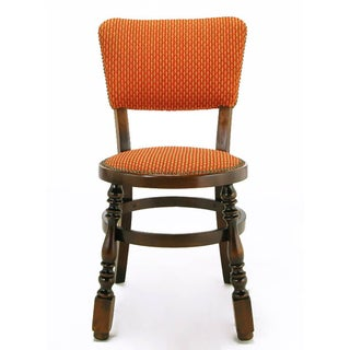Four Uncommon Walnut and Persimmon Baluster Leg Dining Chairs With Round Seats Preview