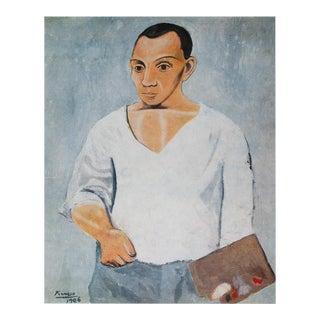 1971 Picasso Autoportrait à La Palette Photogravure