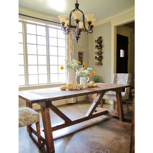 Rustic Farmhouse Dining Table - Image 3 of 5