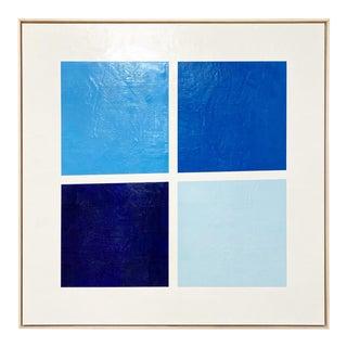 """John O'Hara """"Squarish Dance"""" Encaustic Painting"""