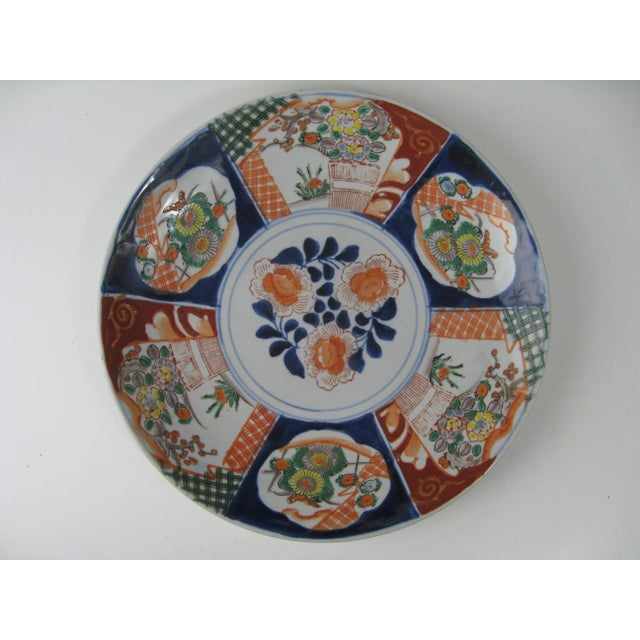 Japanese Antique Japanese Arita Charger, Meiji Period, 1868-1912 For Sale - Image 3 of 6