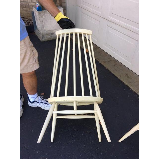 White 'Mademoiselle' Lounge Chair by Ilmari Tapiovaara for Edsby Verken - Set of 4 For Sale - Image 8 of 10
