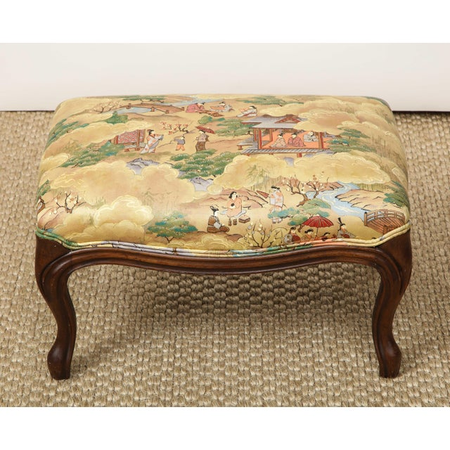 Tan Small Louis XV Style Footstool For Sale - Image 8 of 10