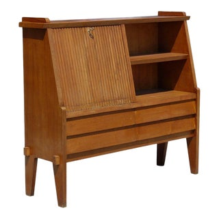 Italian Slant Front Desk with Bookshelf For Sale
