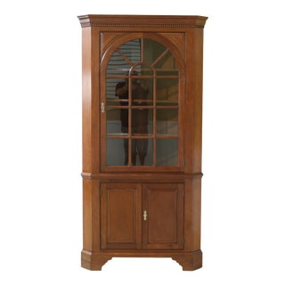Stickley Chippendale Mahogany Corner Cabinet For Sale