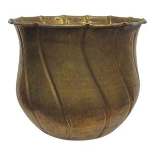 Vintage Brass Decorative Planter