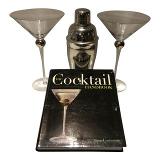 """Martinis for Two ""Book, Cocktail Shaker & 2 Glasses For Sale"
