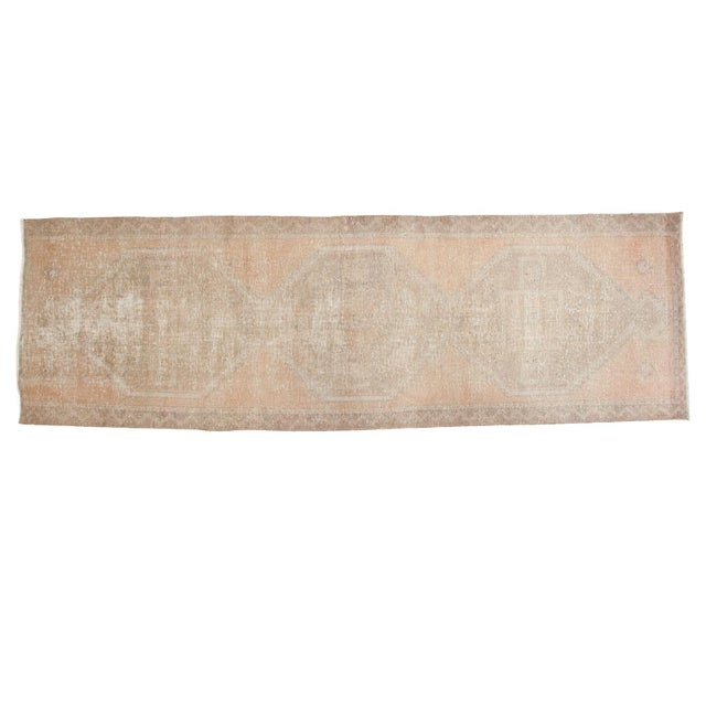 "Distressed Oushak Rug Runner - 3'5"" X 10'9"" - Image 1 of 8"