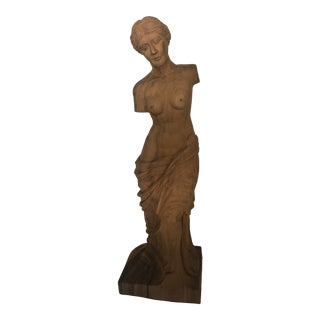 19th Century Original Hand Carved Female For Sale