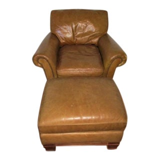 Leather Chair & Ottoman Set by Lee
