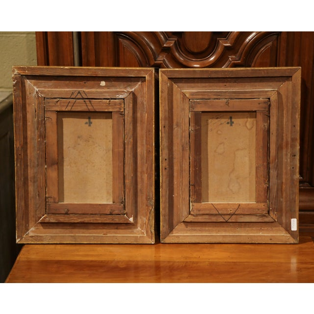 Blue Pair of 19th Century French Birds Oil Paintings in Gilt Frames Signed Delor For Sale - Image 8 of 9