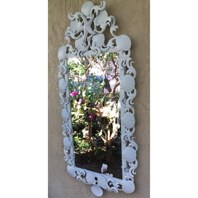 Seashell Iron Mirrors - a Pair For Sale - Image 9 of 13