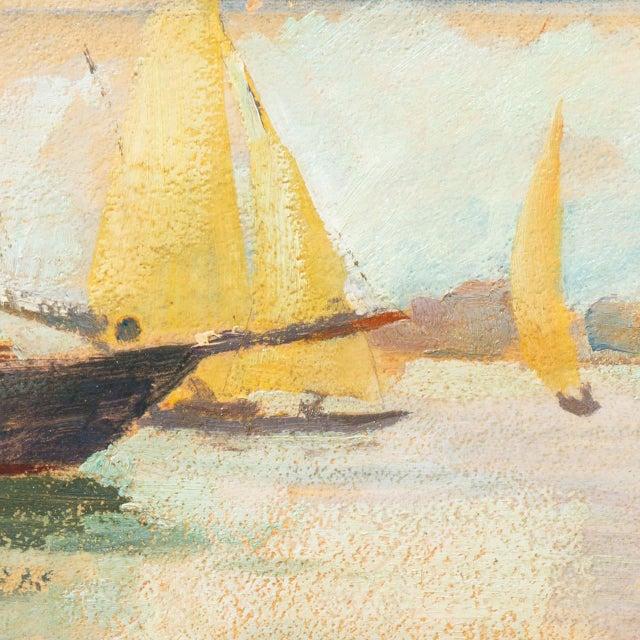 'Harbor Mist' by Jonathan Scott Circa 1960, Laguna Beach Art Association, Aws, Pasadena Art Museum For Sale - Image 9 of 11