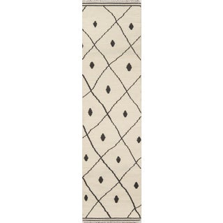 "Erin Gates by Momeni Thompson Appleton Ivory Runner - 2'3"" X 8' For Sale"