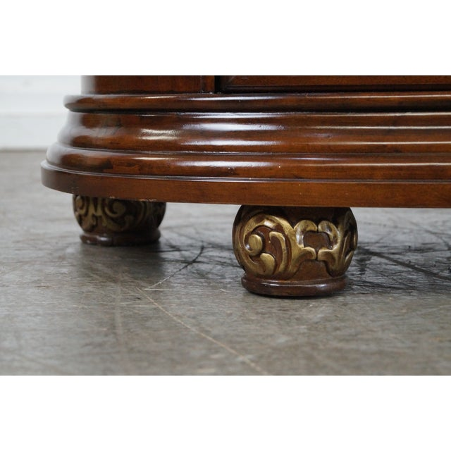 Burlwood Comitia Molina Demilune Burl Wood Marble Top Chests - a Pair For Sale - Image 7 of 10