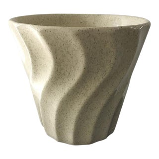 Mid-Century Bauer Swirl Speckled Flower Pot