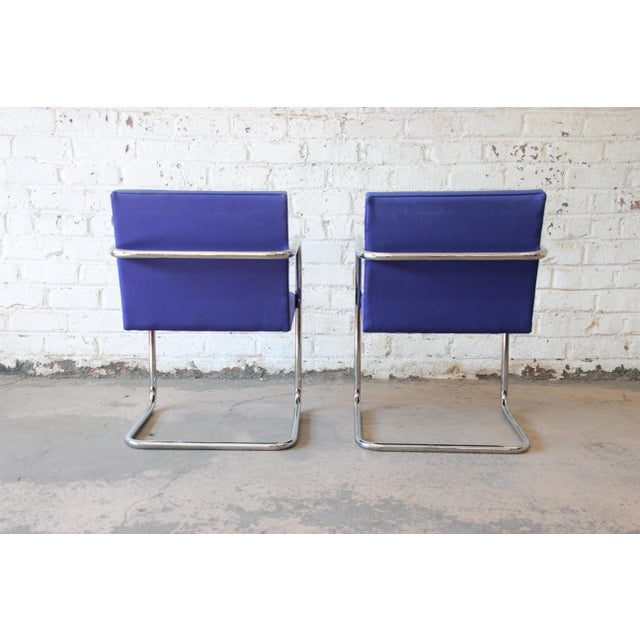Mies Van Der Rohe for Knoll International Brno Chairs - a Pair For Sale In South Bend - Image 6 of 11
