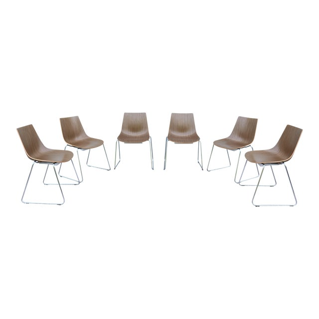Mid-Century Modern Style Allermuir Curve Dining or Stacking Side Chairs- Set of 6 For Sale