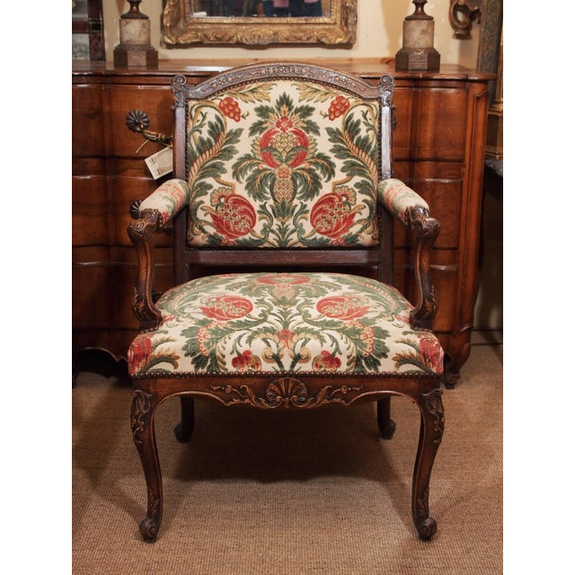 19th Century Walnut French Fauteuil For Sale - Image 9 of 9