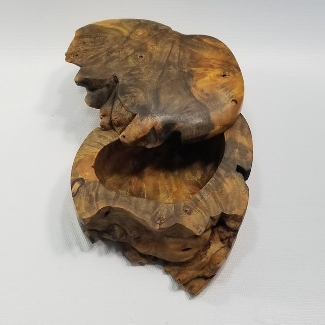 Vintage Burl Wood Trinket Jewelry Box by Doug Muscanell - Signed - Organic Mid Century Modern Palm Beach Boho Chic Tree For Sale - Image 9 of 13