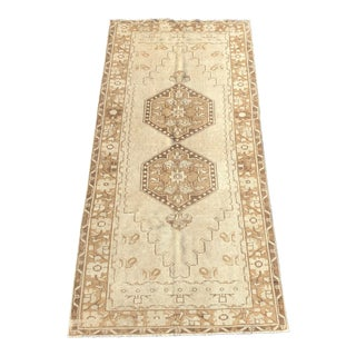 "Antique Turkish Oushak Runner - 3'10"" x 8'10"""