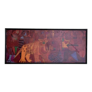 Pedro Coronel MIX Media Lithograph Mexican Modernist For Sale