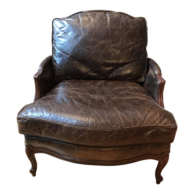 Ethan Allen Versailles Leather Chair - Image 1 of 5