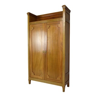 1910s Vinage Art Nouveau Mahogany Armoire For Sale