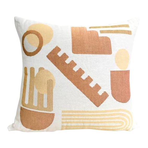 """""""Forma"""" Woven Abstract Pillow For Sale"""