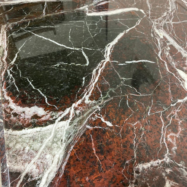 Monumental Marble Dining or Desk Table For Sale - Image 11 of 13