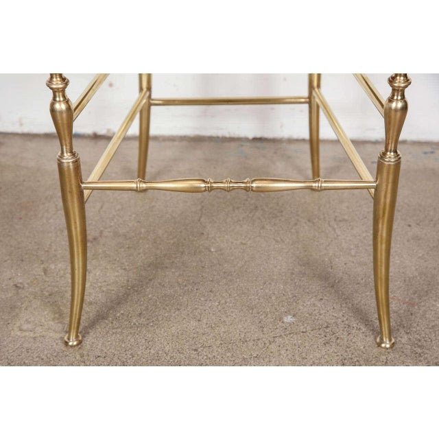 Pair of Brass Chairs by Chiavari Italy For Sale - Image 4 of 11