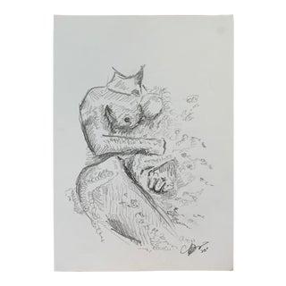 """Bathroom II"" Drawing by Alex Baker For Sale"