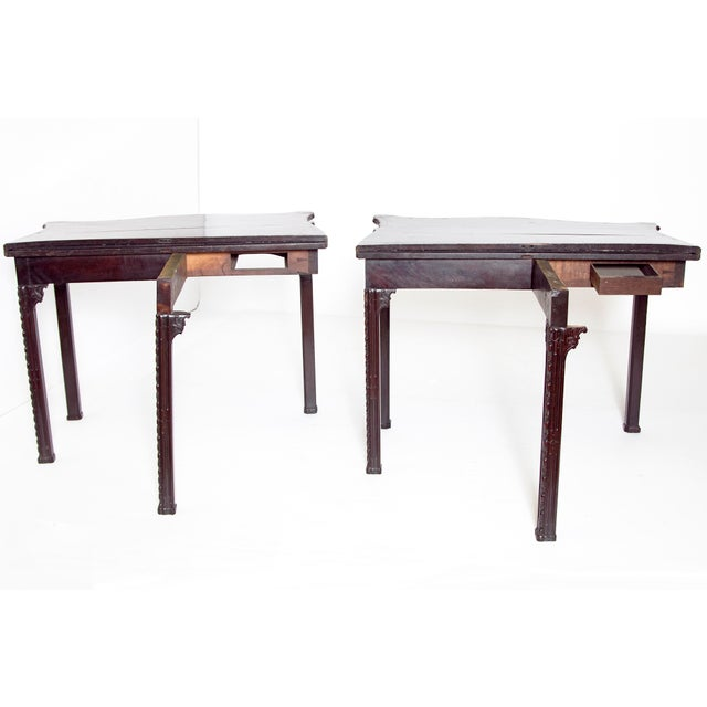 Pair of 18th Century George III Mahogany Card Tables For Sale - Image 9 of 13