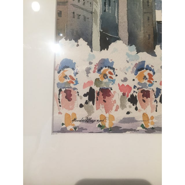 Vintage Mid-Century Philadelphia Watercolor Framed Painting For Sale - Image 4 of 5