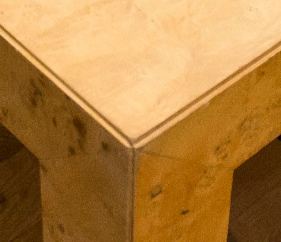 Thomasville Burl Wood Parsons Expandable Dining Table   Image 4 Of 7
