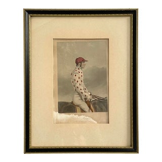 19th Century English Engraving of Job Marson 'The Celebrated Jockey' For Sale