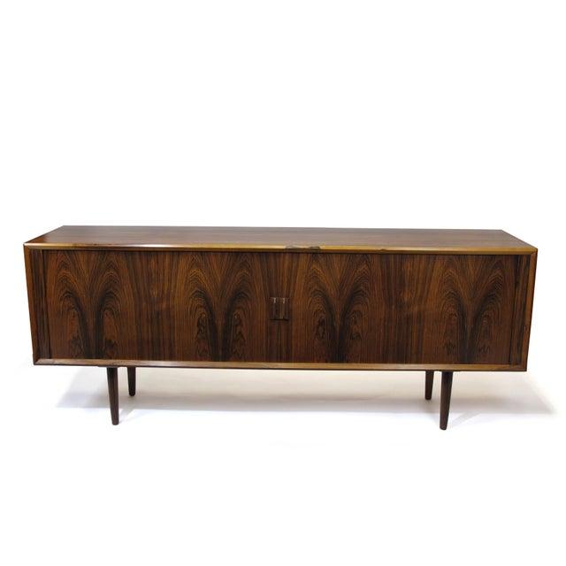 Mid-Century Modern Arne Vodder for P. Olsen Sibast Mobler Rosewood Tambour Credenza Sideboard For Sale - Image 3 of 10