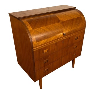 Egon Ostergaard Teak Roll Top Desk For Sale