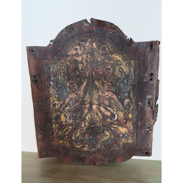 Early 19th Century Pair of 19th C. Spanish Leather Panels For Sale - Image 5 of 10