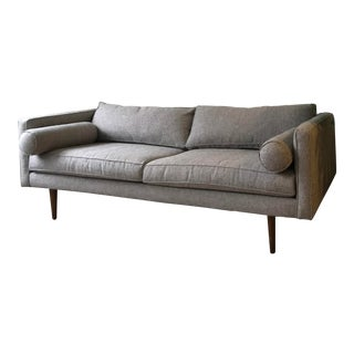 Mid-Century Style Light Grey Sofa For Sale