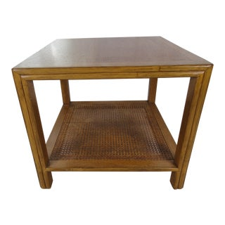 1980's Mid Century Modern McGuire Walnut Side Table For Sale