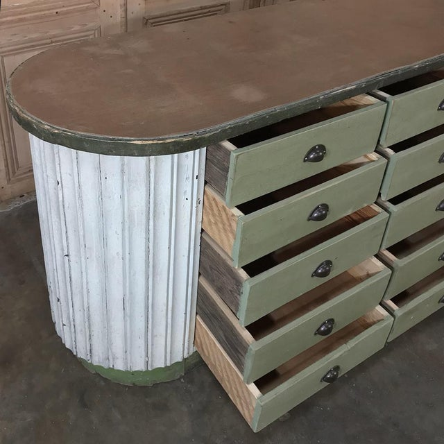 Wood Mid-Century Painted Store Counter For Sale - Image 7 of 13