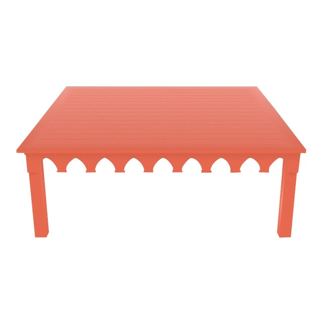 Oomph Ocean Drive 42 Outdoor Coffee Table, Orange For Sale