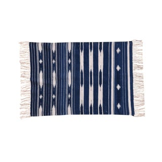 Violet Rug, 9x12, Blue & White For Sale