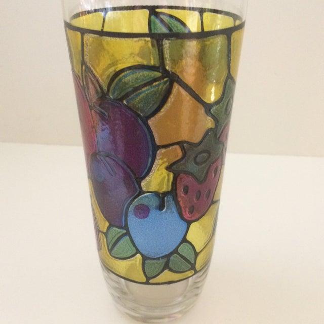 Vintage Mosaic 24 Oz. Fruit Pattern Cocktail Shaker For Sale - Image 9 of 11